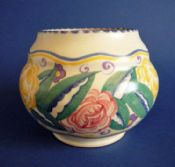 Early Carter Stabler Adams Poole Pottery EG Pattern Vase c1928